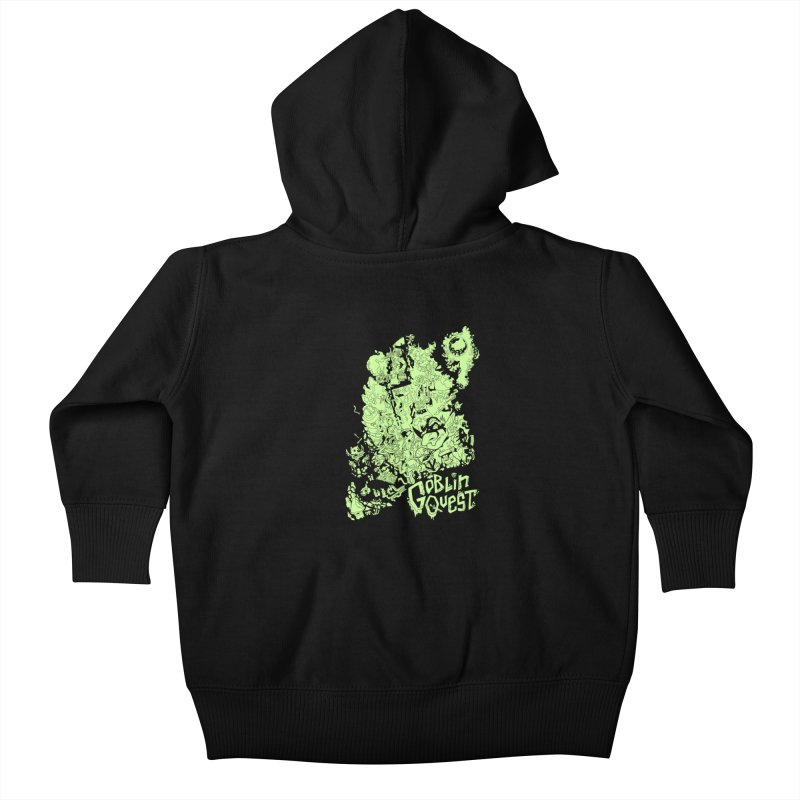 Goblin Quest - Greenie Meanie Kids Baby Zip-Up Hoody by