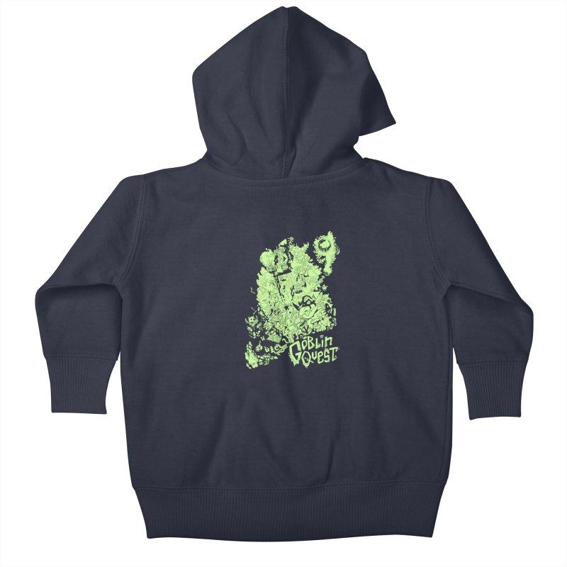 Goblin Quest - Greenie Meanie Kids Baby Zip-Up Hoody by