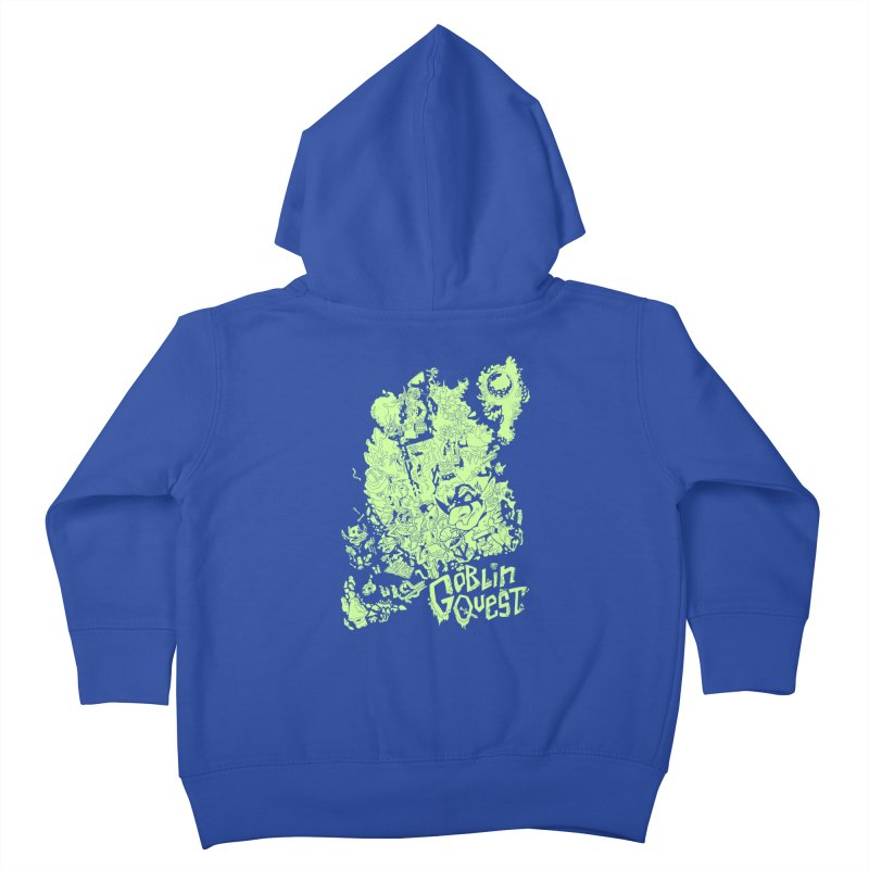Goblin Quest - Greenie Meanie Kids Toddler Zip-Up Hoody by
