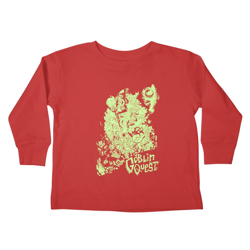 Goblin Quest - Greenie Meanie Kids Toddler Longsleeve T-Shirt by