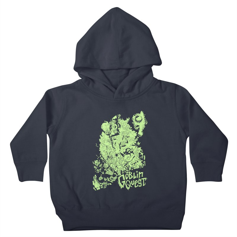 Goblin Quest - Greenie Meanie Kids Toddler Pullover Hoody by