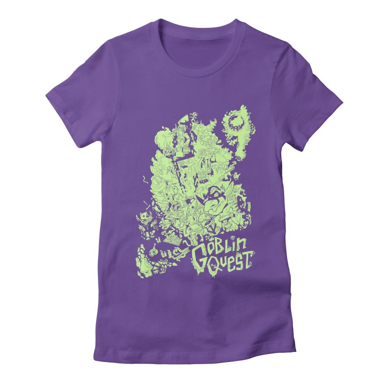 Goblin Quest - Greenie Meanie Women's Fitted T-Shirt by