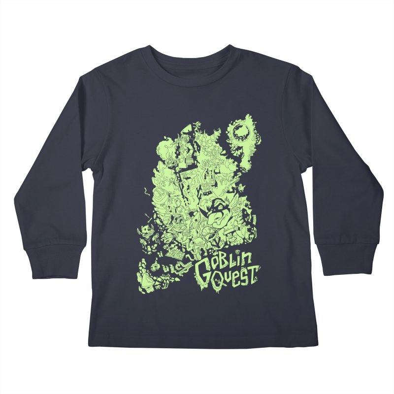 Goblin Quest - Greenie Meanie Kids Longsleeve T-Shirt by