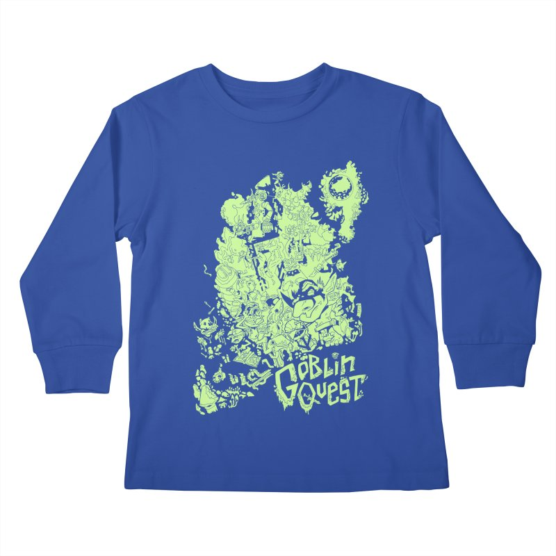 Goblin Quest - Greenie Meanie Kids Longsleeve T-Shirt by