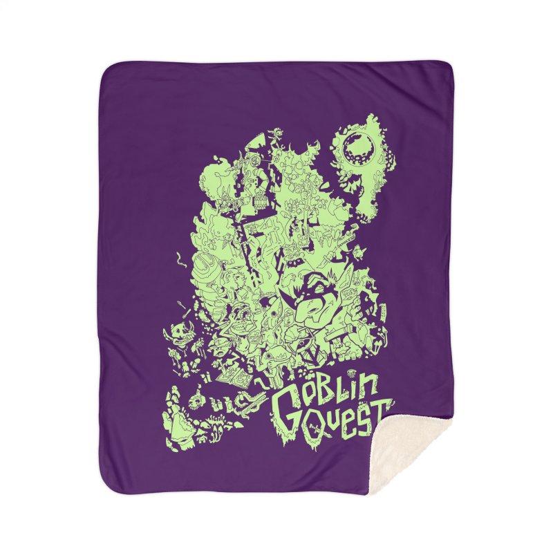 Goblin Quest - Greenie Meanie Home Sherpa Blanket Blanket by