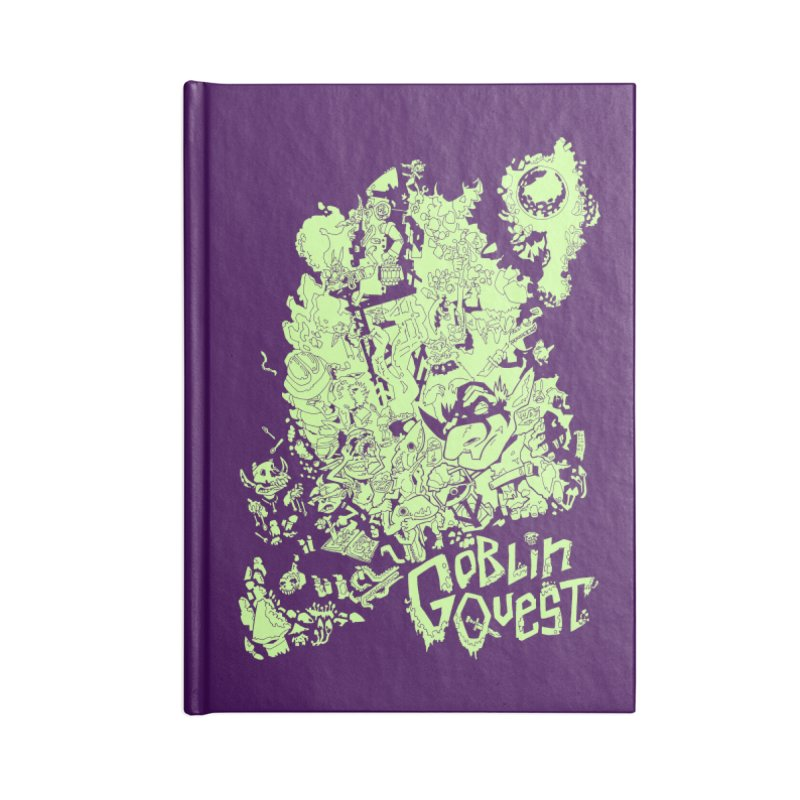 Goblin Quest - Greenie Meanie Accessories Lined Journal Notebook by