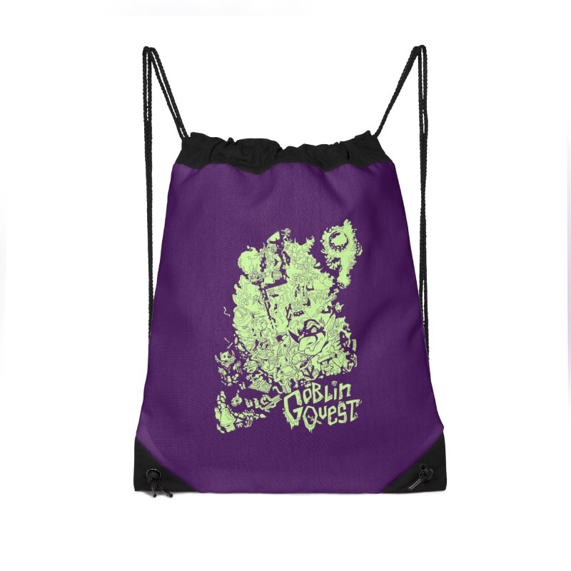 Goblin Quest - Greenie Meanie Accessories Drawstring Bag Bag by