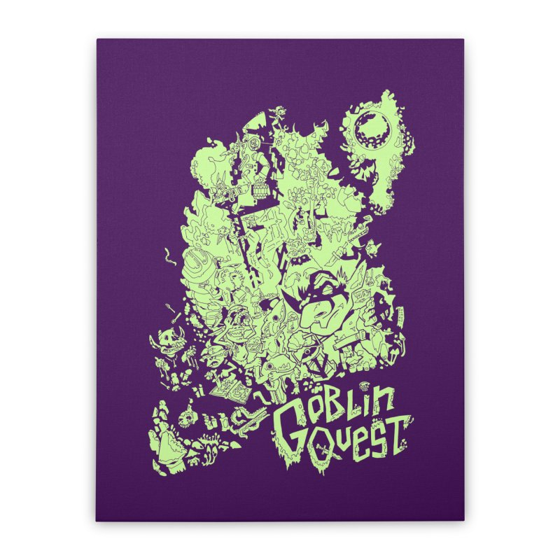 Goblin Quest - Greenie Meanie Home Stretched Canvas by