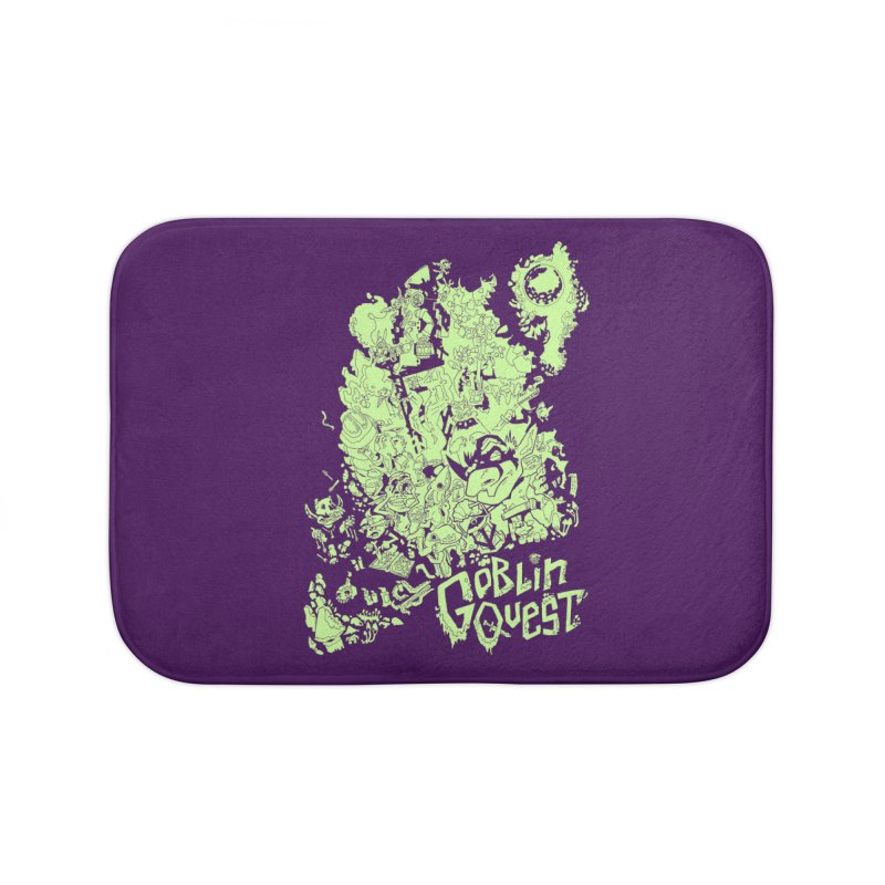 Goblin Quest - Greenie Meanie Home Bath Mat by