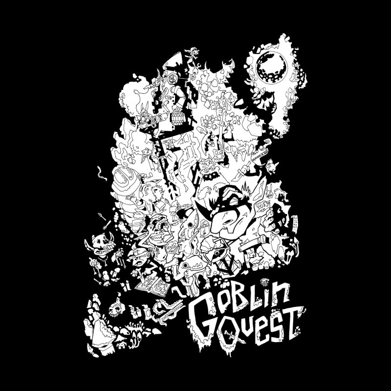 Goblin Quest - Black and white Kids Pullover Hoody by