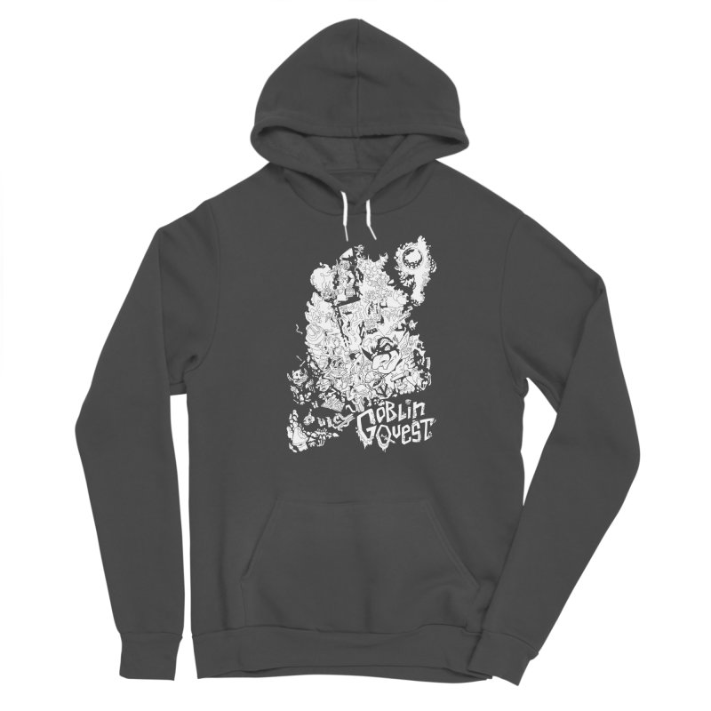 Goblin Quest - Black and white Men's Sponge Fleece Pullover Hoody by