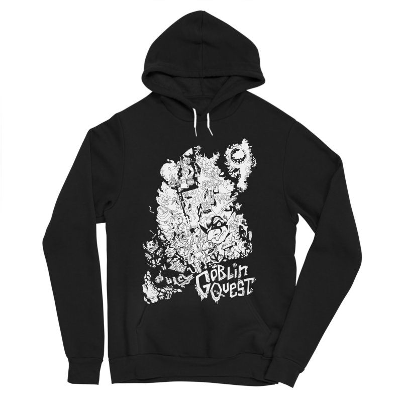 Goblin Quest - Black and white Women's Sponge Fleece Pullover Hoody by