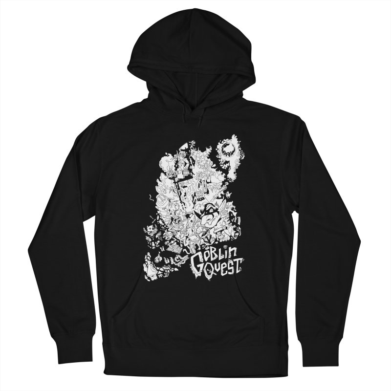 Goblin Quest - Black and white Women's Pullover Hoody by
