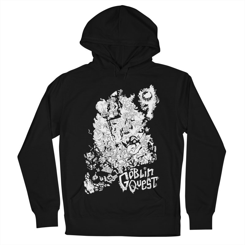 Goblin Quest - Black and white Women's French Terry Pullover Hoody by