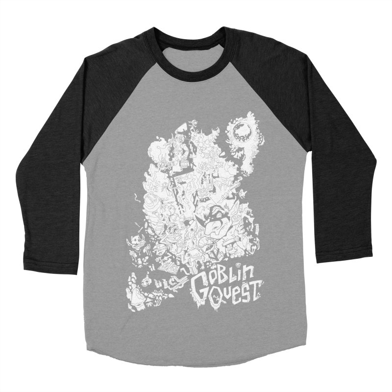 Goblin Quest - Black and white Women's Baseball Triblend Longsleeve T-Shirt by