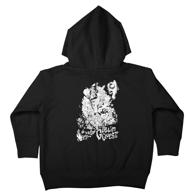 Goblin Quest - Black and white Kids Toddler Zip-Up Hoody by