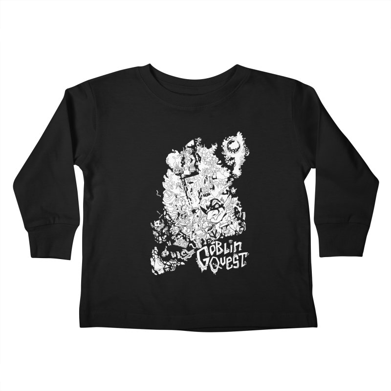 Goblin Quest - Black and white Kids Toddler Longsleeve T-Shirt by