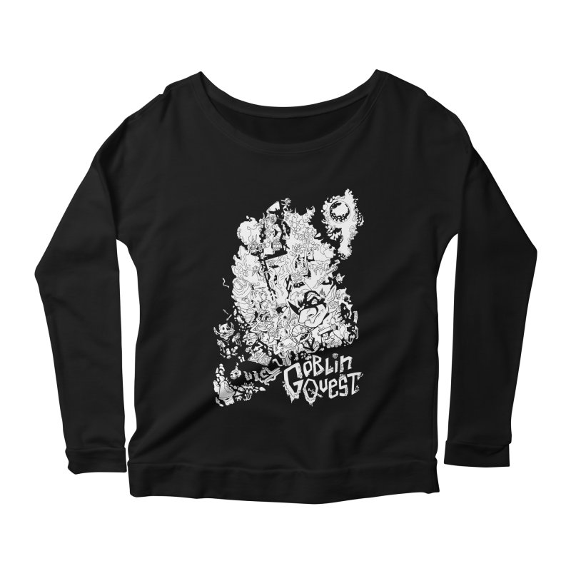 Goblin Quest - Black and white Women's Longsleeve T-Shirt by
