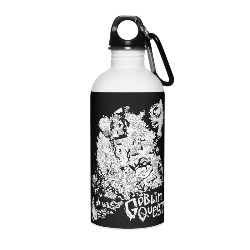 Goblin Quest - Black and white Accessories Water Bottle by