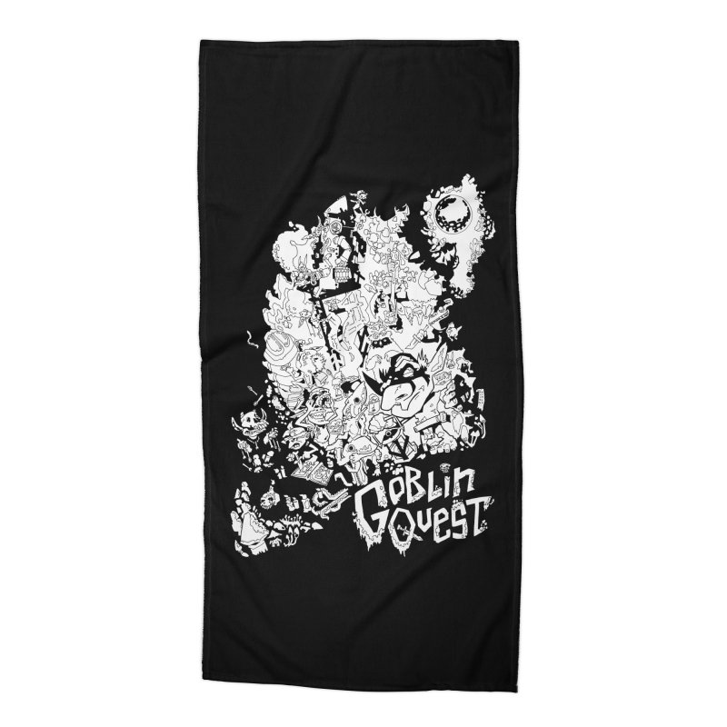 Goblin Quest - Black and white Accessories Beach Towel by