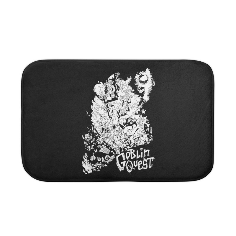 Goblin Quest - Black and white Home Bath Mat by
