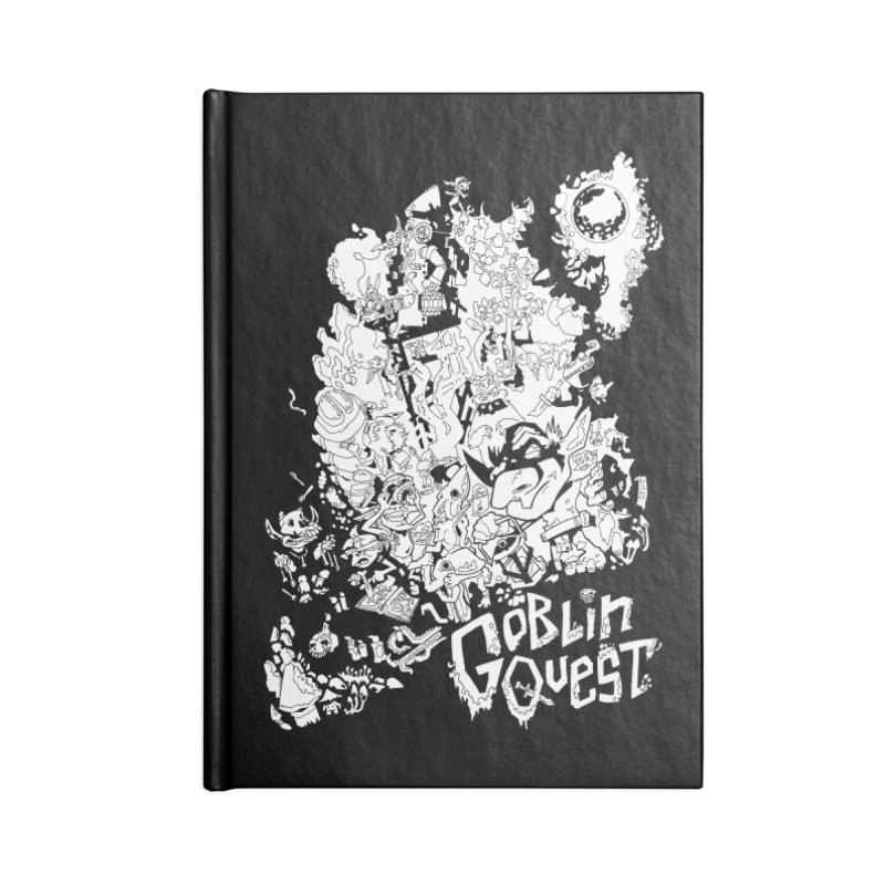 Goblin Quest - Black and white Accessories Lined Journal Notebook by