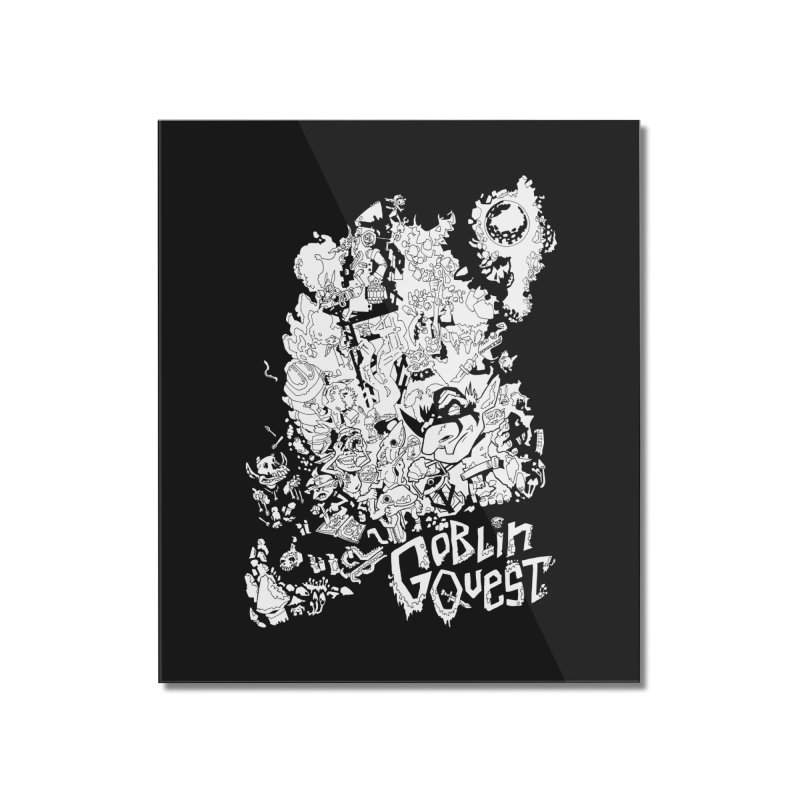 Goblin Quest - Black and white Home Mounted Acrylic Print by