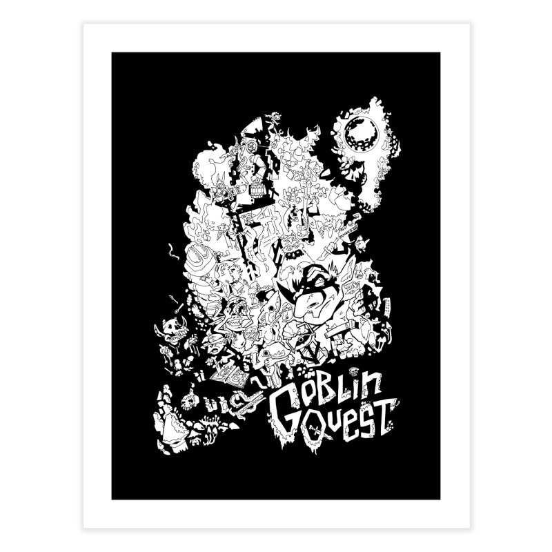 Goblin Quest - Black and white Home Fine Art Print by