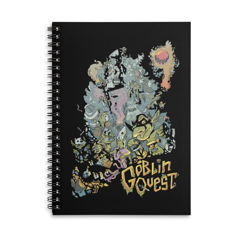 Goblin Quest - Full Color Madness Accessories Lined Spiral Notebook by