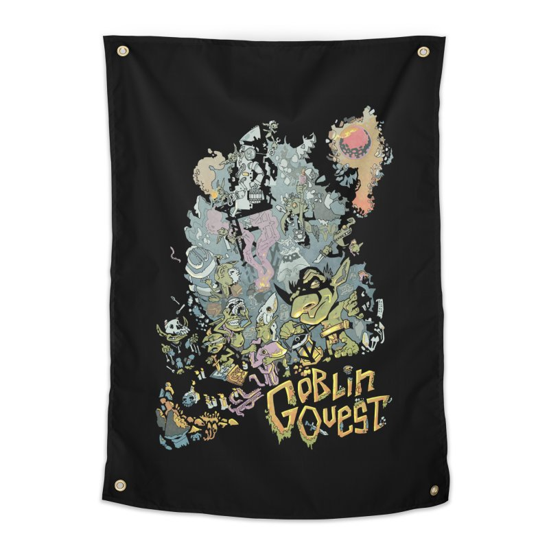 Goblin Quest - Full Color Madness Home Tapestry by