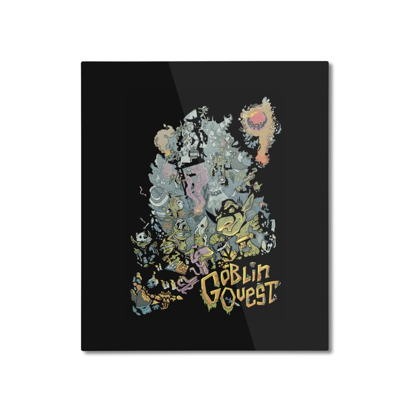 Goblin Quest - Full Color Madness Home Mounted Aluminum Print by