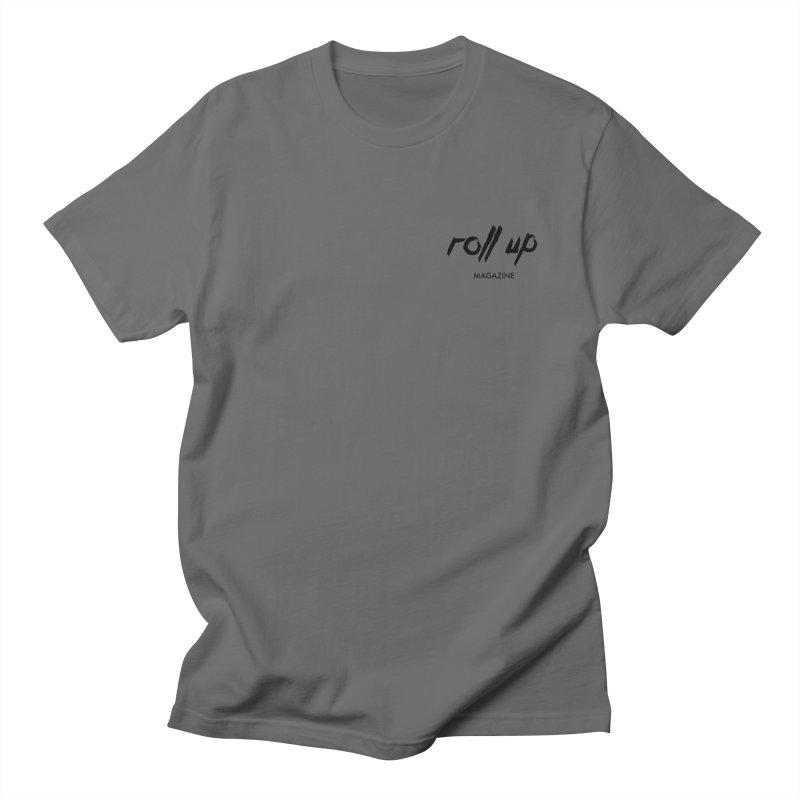ROLL UP LOGO BLACK mini Men's T-Shirt by ROLL UP MAGAZINE