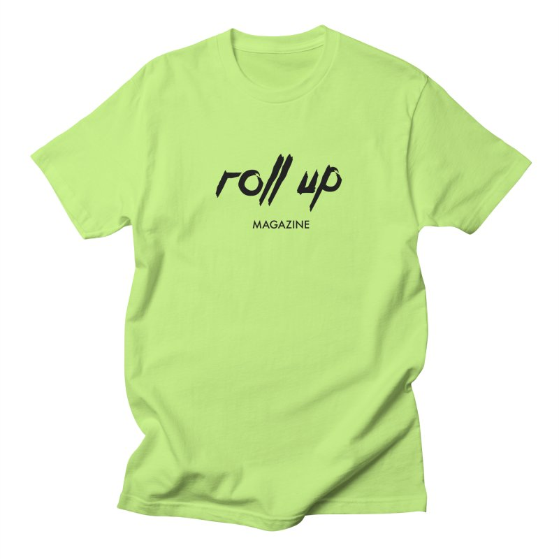 ROLL UP BLACK LOGO Men's T-Shirt by ROLL UP MAGAZINE