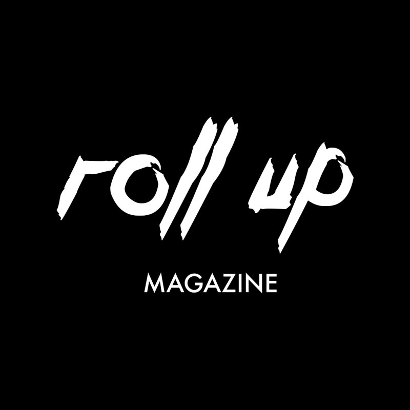 ROLL UP WHITE LOGO Men's T-Shirt by ROLL UP MAGAZINE