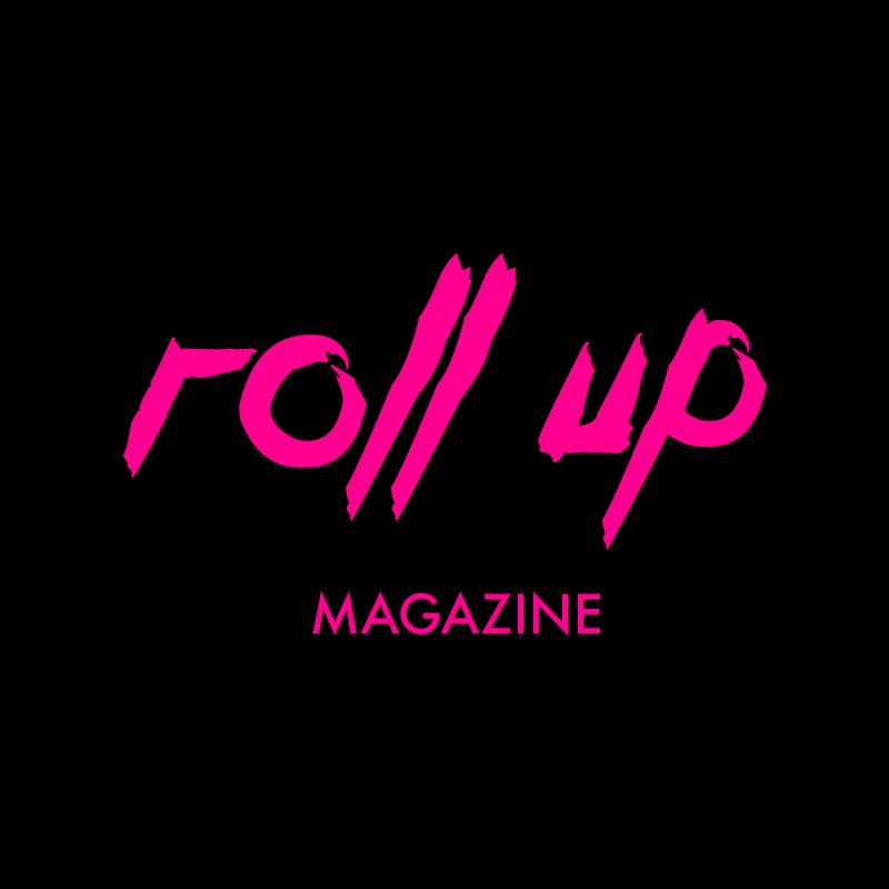 ROLL UP MAGENTA LOGO Men's T-Shirt by ROLL UP MAGAZINE