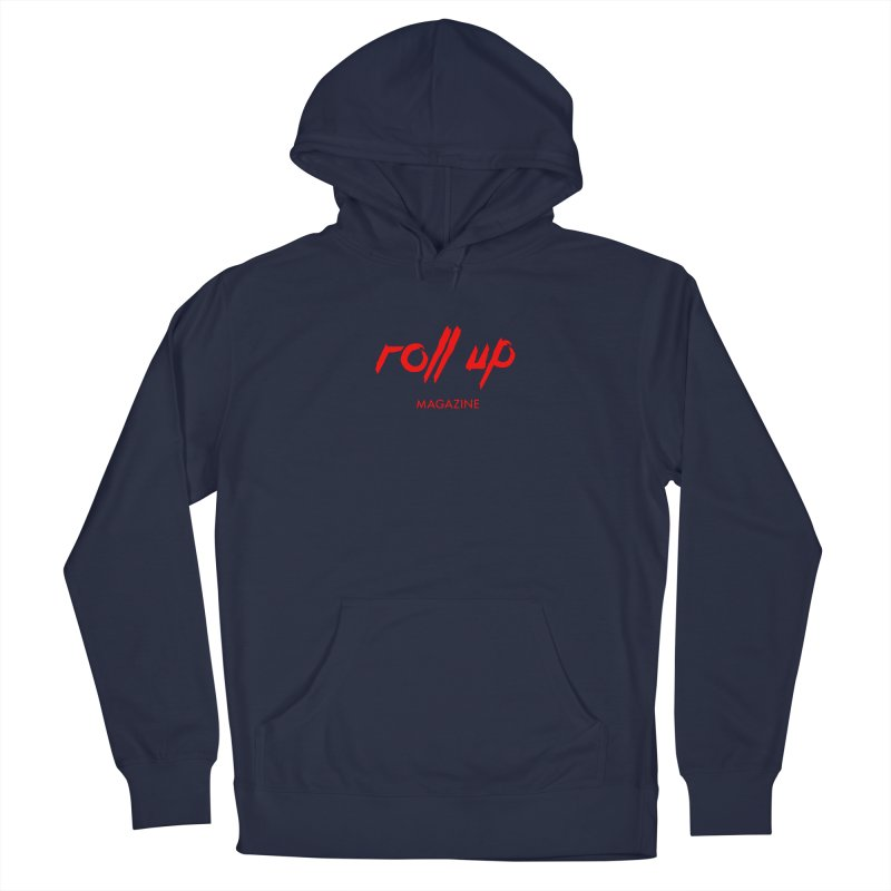 ROLL UP RED LOGO Men's Pullover Hoody by ROLL UP MAGAZINE