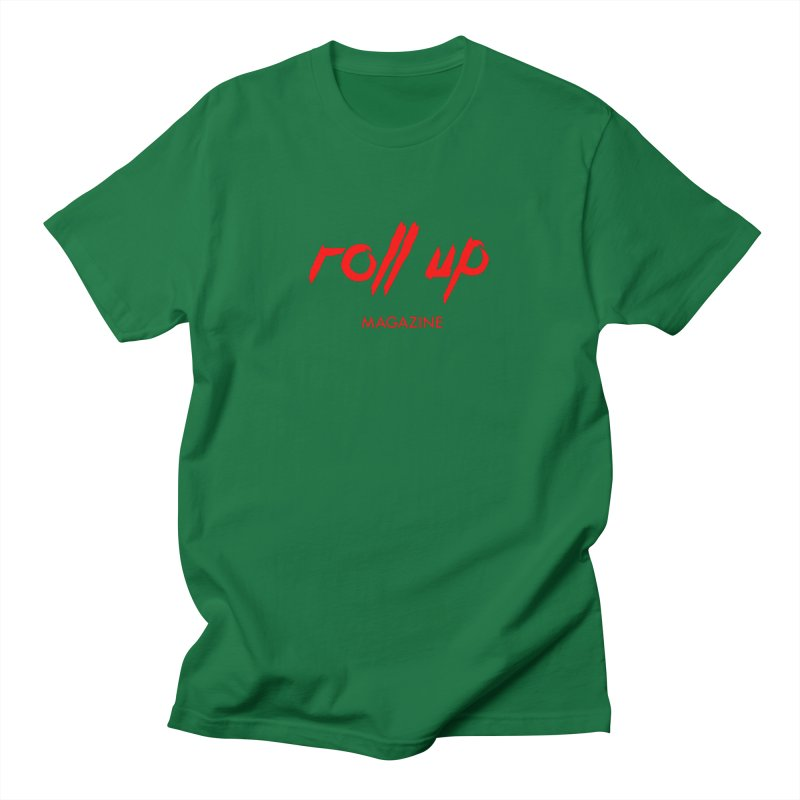 ROLL UP RED LOGO Men's T-Shirt by ROLL UP MAGAZINE