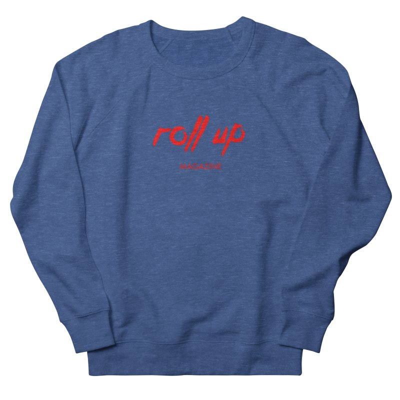 ROLL UP RED LOGO Men's Sweatshirt by ROLL UP MAGAZINE