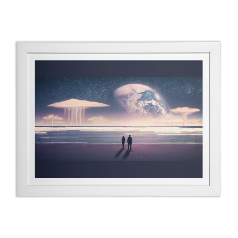 Nostalgia in Framed Fine Art Print White by Rolly Rocket - Retro Futuristic Art