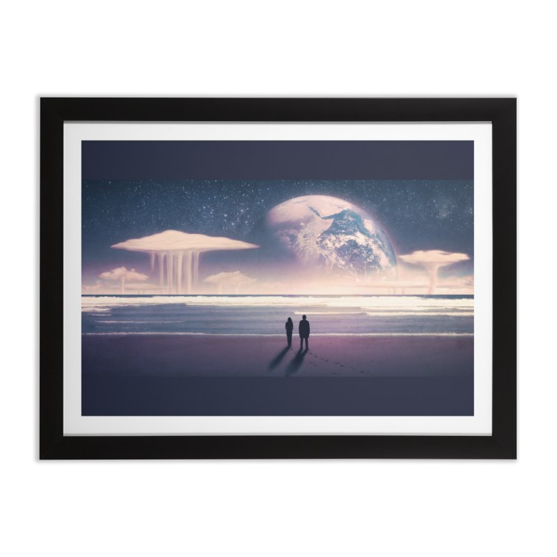 Nostalgia Home Framed Fine Art Print by Rolly Rocket - Retro Futuristic Art