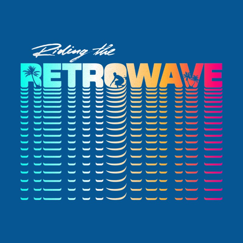 Riding the Retrowave Men's Sweatshirt by Rolly Rocket - Retro Futuristic Art