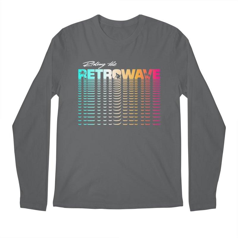 Riding the Retrowave Men's Longsleeve T-Shirt by Rolly Rocket - Retro Futuristic Art