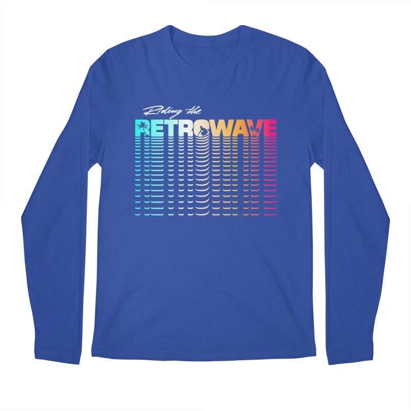 Riding the Retrowave Men's Longsleeve T-Shirt by Rolly Rocket - Retro Futuristic Art