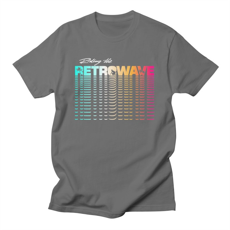 Riding the Retrowave Men's T-Shirt by Rolly Rocket - Retro Futuristic Art