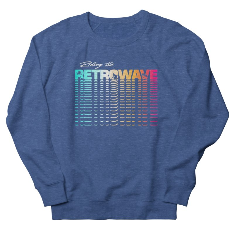 Riding the Retrowave Women's Sweatshirt by Rolly Rocket - Retro Futuristic Art