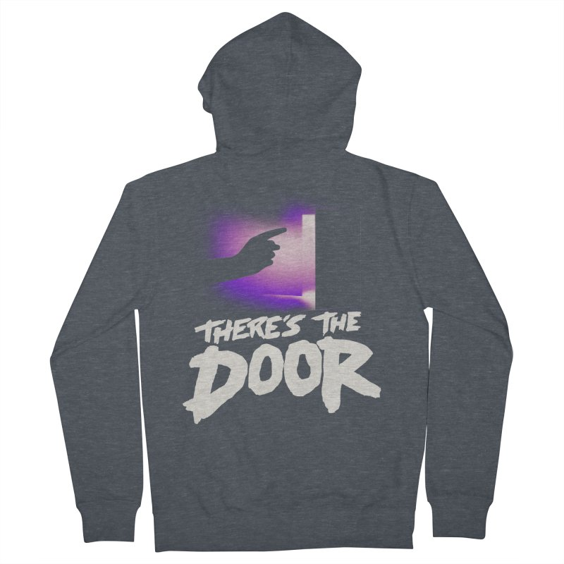 There's the Door Men's French Terry Zip-Up Hoody by Rolly Rocket - Retro Futuristic Art
