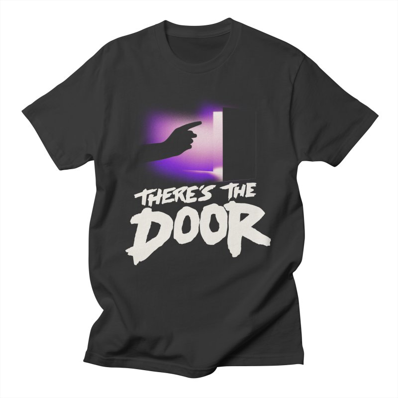 There's the Door Men's T-Shirt by Rolly Rocket - Retro Futuristic Art