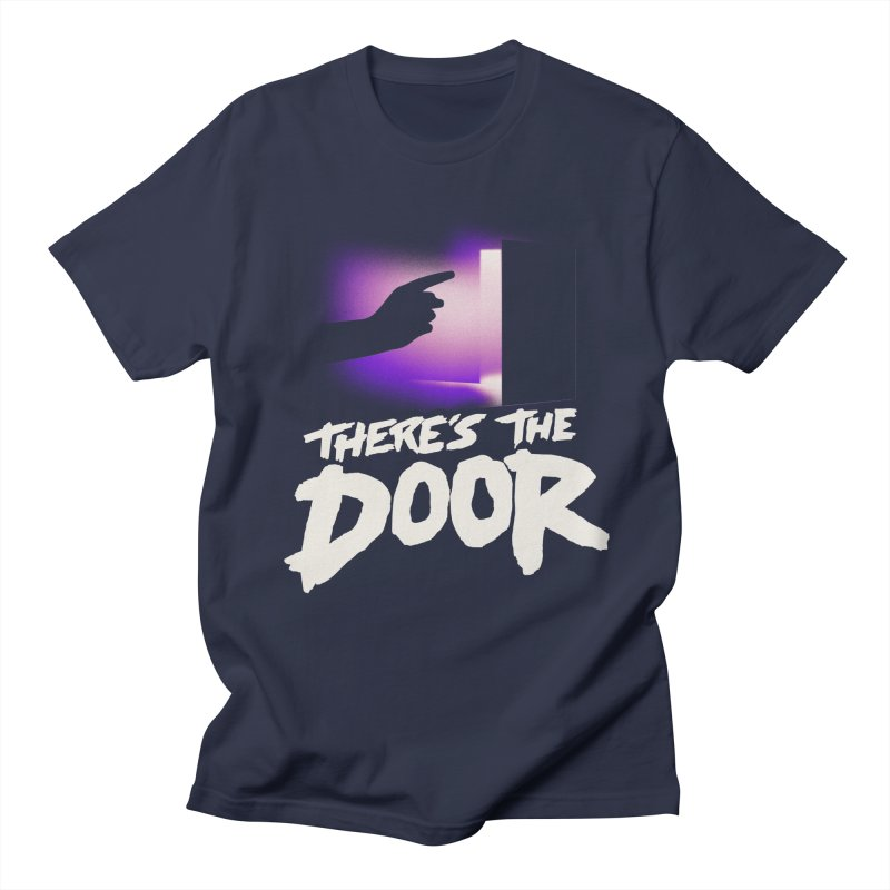 There's the Door Women's Unisex T-Shirt by Rolly Rocket - Retro Futuristic Art