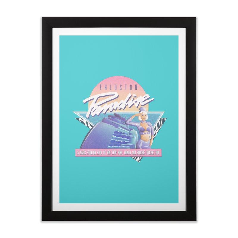 Fhloston Paradise Home Framed Fine Art Print by Rolly Rocket - Retro Futuristic Art