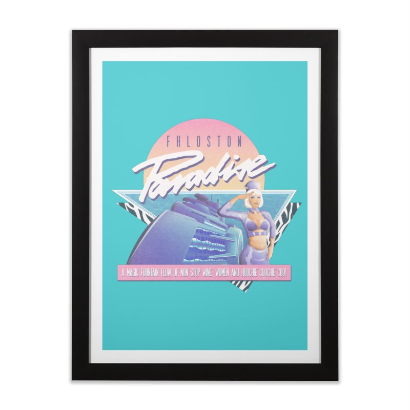 Fhloston Paradise Home Framed Fine Art Print by Rolly Rocket - Retro Futuristic Art